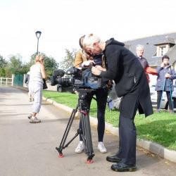 Journalistes de France 3 à notre arrivée à la Flaguais (Missy)