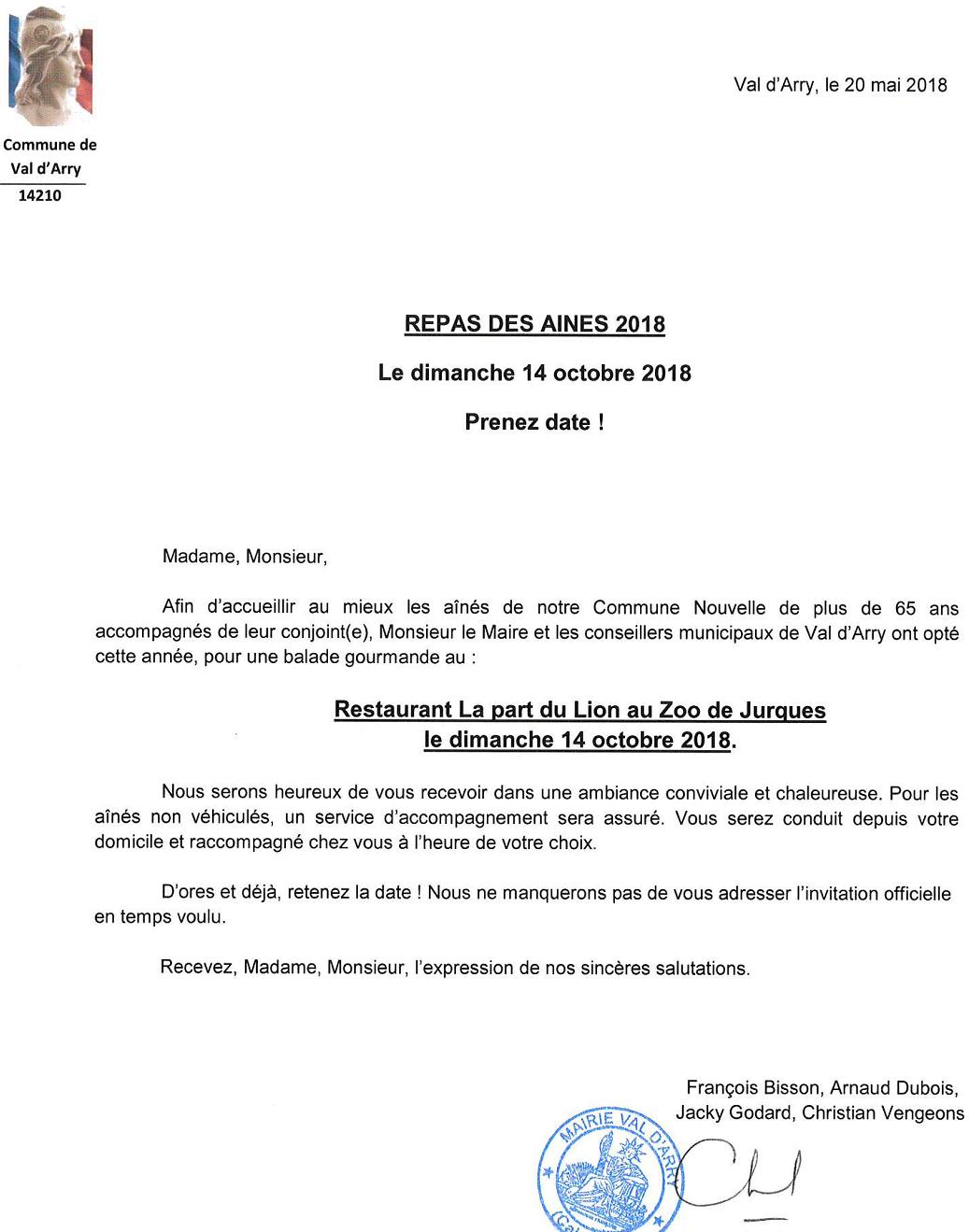 2018 invitation repas des aines
