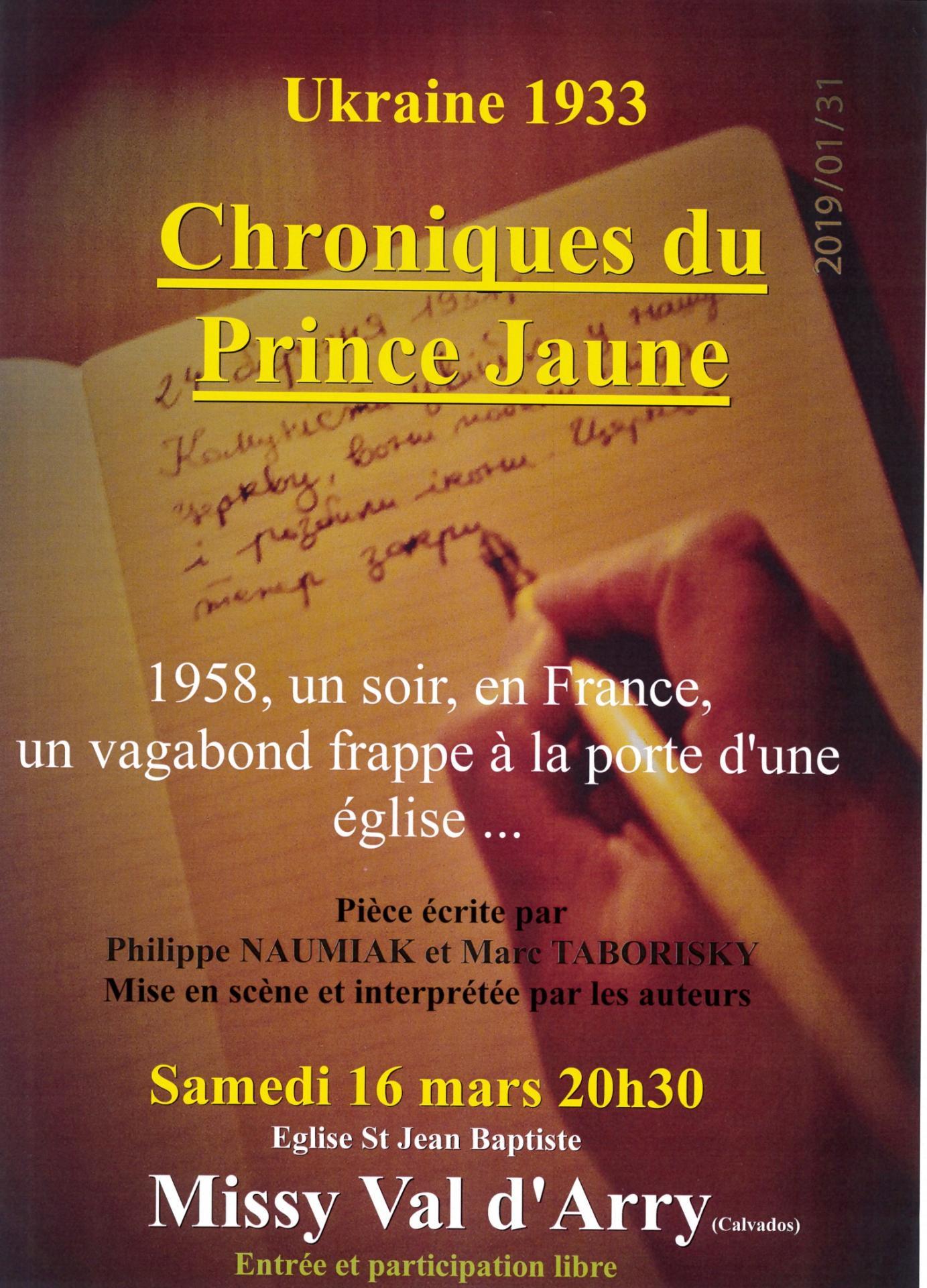 20190311affiche chroniques du prince jaune