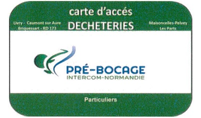 Carte d acces aux dechetteries et point vert