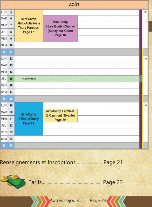 Catalogue mini camps planning2