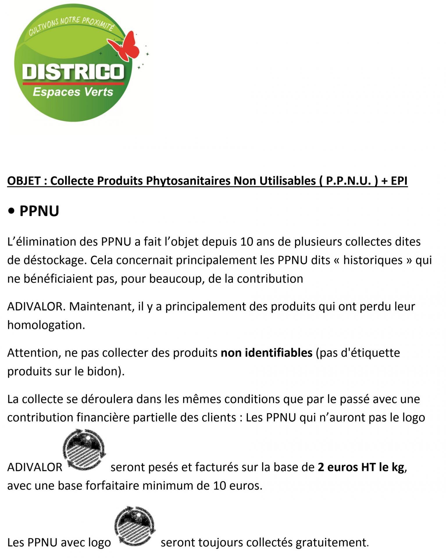 Collecte ppnu et epi p1