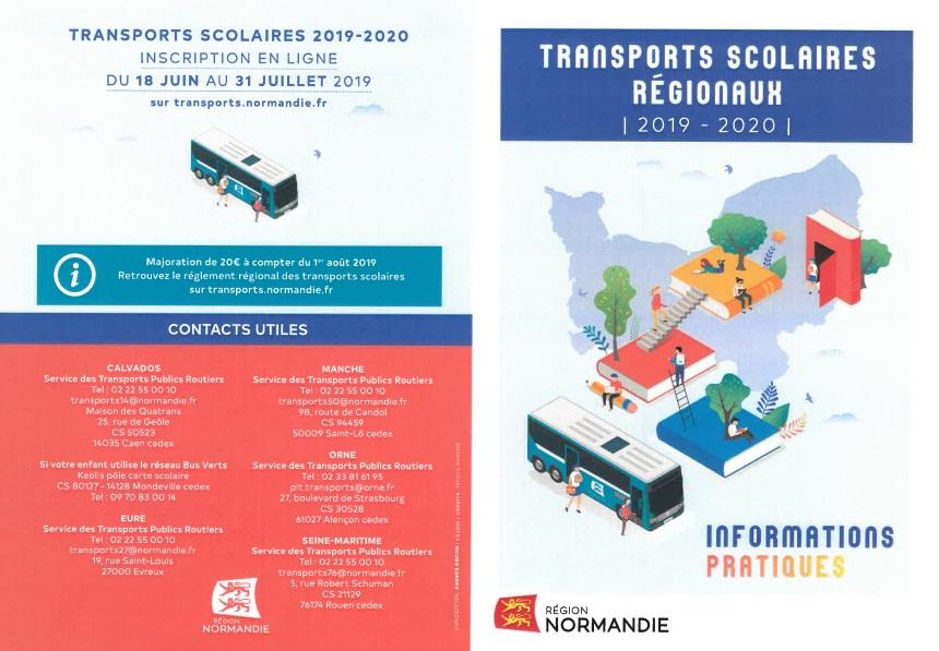 Paiement et inscription en ligne transport scolaires 2019 2020 p1