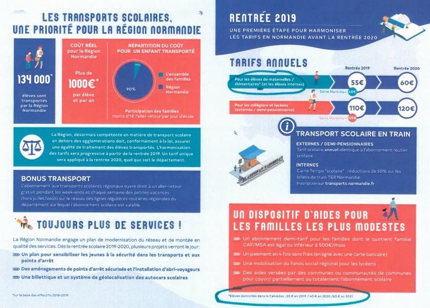 Paiement et inscription en ligne transport scolaires 2019 2020 p2
