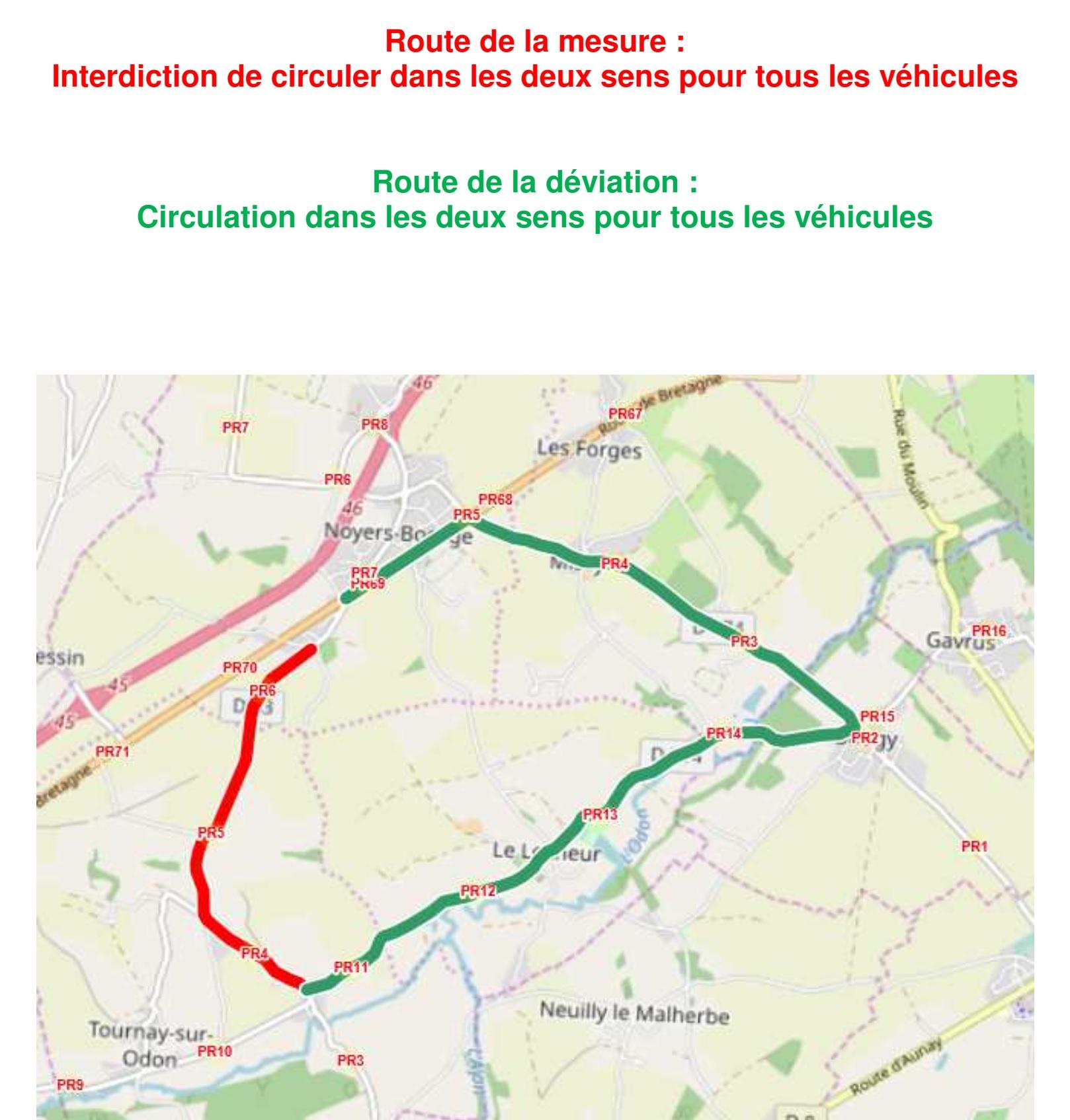 20190909travaux sur la d83 a tournay sur odon