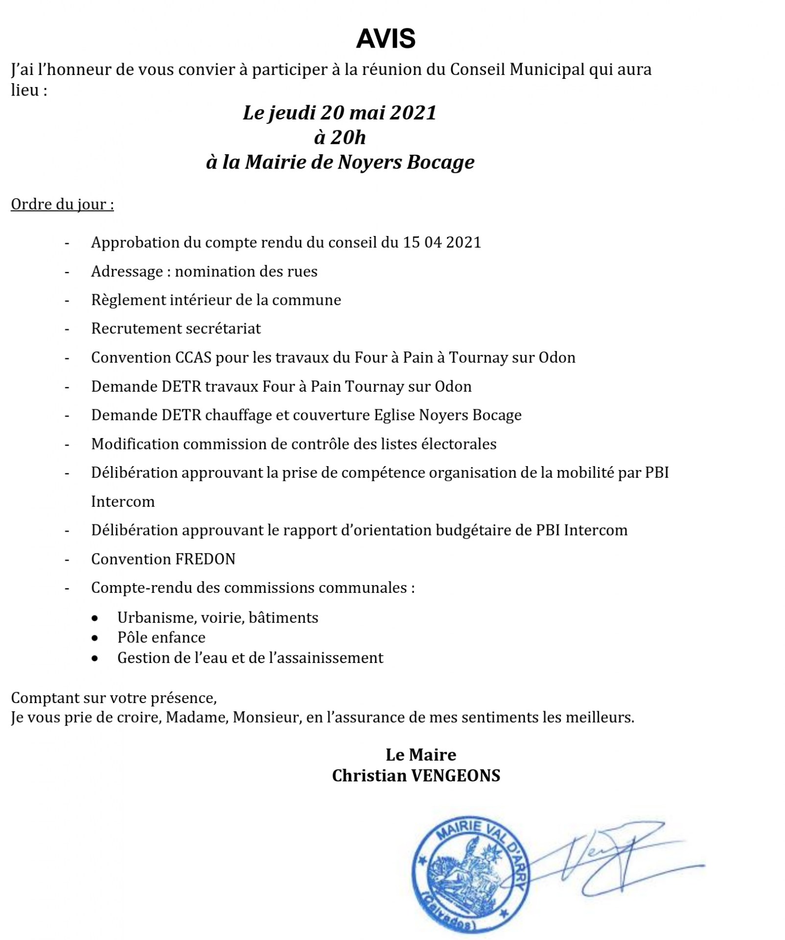 20210511 avis du conseil municipal du 20 mai