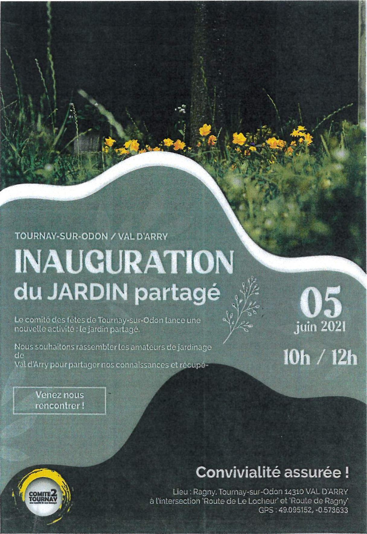 Inauguration du jardin partage du ccas du 05062021