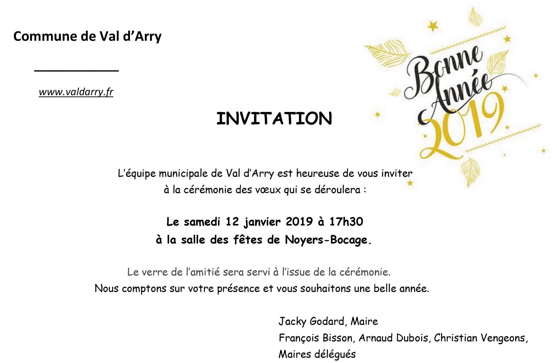 Invitation voeux 2019