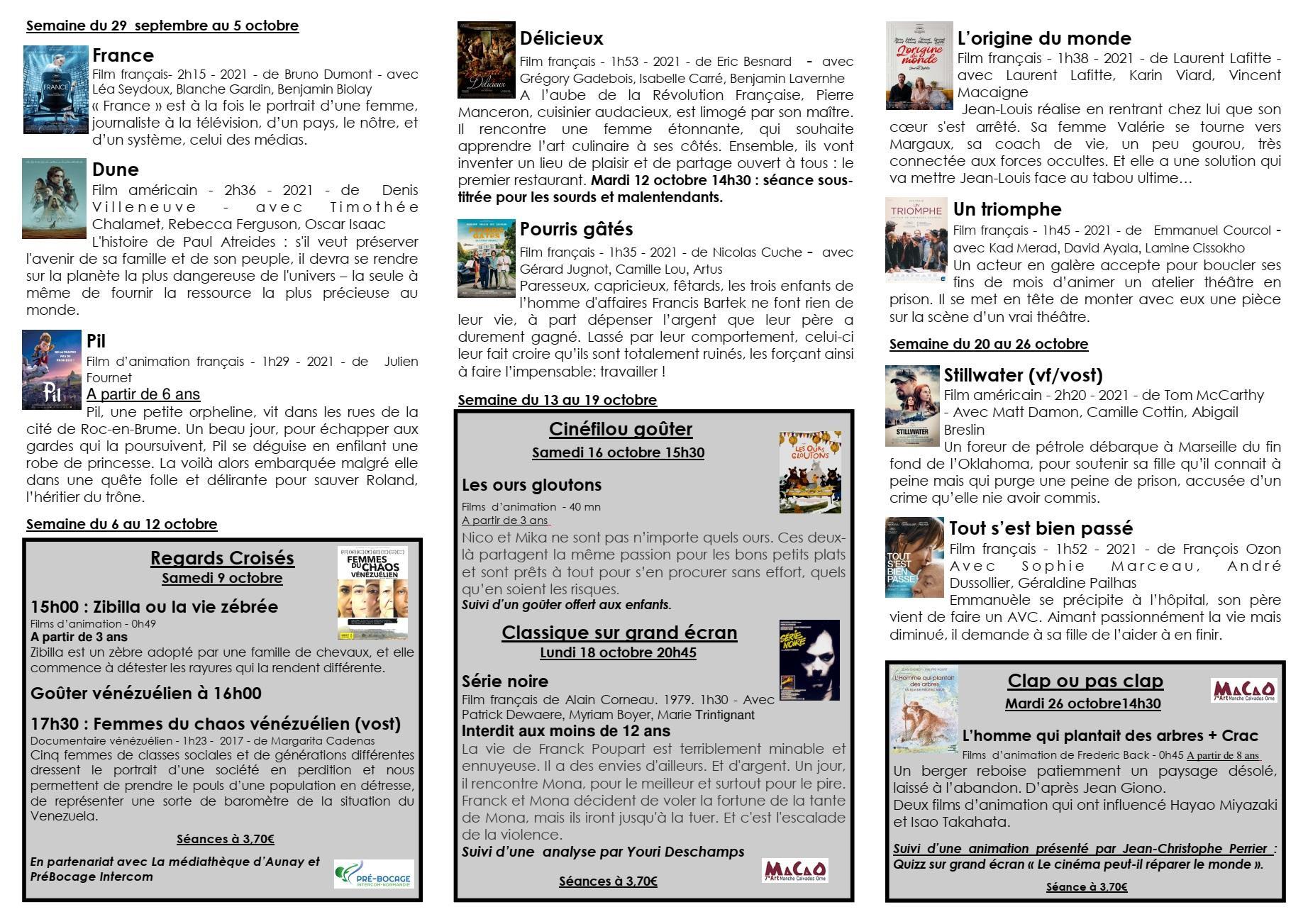 Octobre 2021 programme cinema paradiso p1 1