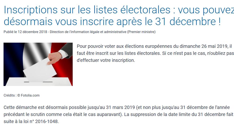 Screenshot 2018 12 15 inscriptions sur les listes electorales vous pouvez desormais vous inscrire apres le 31 decembre