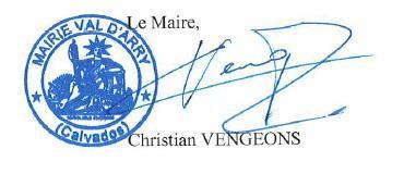 Signature maire christian vengeons